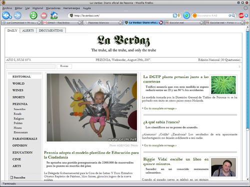 Captura del diario digital «La Verdaz»